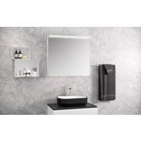 Peilikaappi Otsoson Luvia 80, LED-valolippa, 800x725x225mm, valkoinen