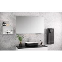 Peilikaappi Otsoson Luvia 120, LED-valo, 1200x710x140mm, valkoinen