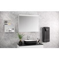 Peilikaappi Otsoson Luvia 90, LED-valolippa, 900x725x225mm, valkoinen