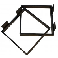 Pöydänjalka Pihlaja J9, 450x450mm, 2 kpl, musta