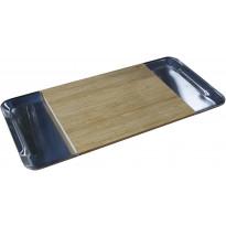 Leikkuulauta Magisso, 260x550mm, bambu/ruostumaton teräs