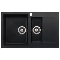 Keittiöallas Teno, 800x495, 1,5-altainen laskutasolla, vasen, musta, Tammiston poistotuote