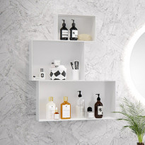 Seinälokerikko Otsoson Leiju S, 200x300x150mm, valkoinen