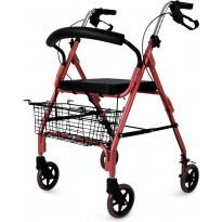 Rollaattori Lyfco CA861L, punainen, 7kg, sisä- ja ulkokäyttöön