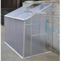 Kasvihuone Metalcraft, 2,7m², 4mm kennolevyllä, seinää vasten