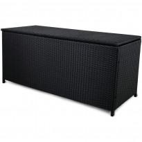 Säilytyslaatikko Lyfco Kattvik, 134x54x59cm, polyrottinki, musta