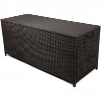 Säilytyslaatikko Lyfco Kattvik, 134x54x59cm, polyrottinki, ruskea