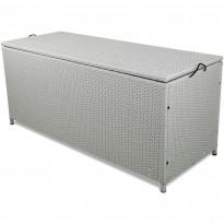 Säilytyslaatikko Lyfco Kattvik, 134x54x59cm, polyrottinki, valkoinen