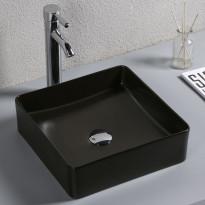 Malja-allas Lyfco, 370x370x130mm, ei hananreikää, musta, Verkkokaupan poistotuote