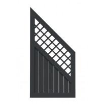 Aitaelementti Palmako Elly 3, 180/90x90cm, harmaa, 5kpl/pkt