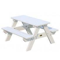 Lasten piknik-pöytäryhmä Palmako Lisbet, 90x89x50cm, valkoinen