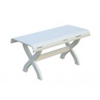 Pöytä Palmako Fred, 140x65cm, valkoinen
