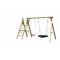 Leikkiteline Palmako Kasper, keinu, pesäkeinu, kiipeilyteline