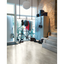 Vinyyli Pergo Premium, 1300x320x4,5mm, Light Grey Travertin laatta 4V, myyntierä 12,48m², Verkkokaupan poistotuote