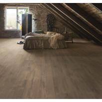 Laminaatti Living Expression, Wide Long Plank, 4V, Sensation Lodge, tummanruskea, tammi, lauta
