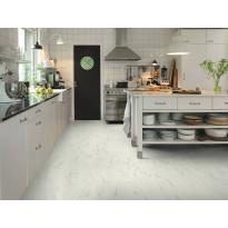 Vinyyli Pergo Tile Premium Click, 4V, Italian Marble, 1300x320x4,5mm, valkoinen, myyntierä 12,48m², Verkkokaupan poistotuote