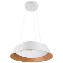 LED-riippuvalaisin Philips Nonagon, ø50,5cm, valkoinen