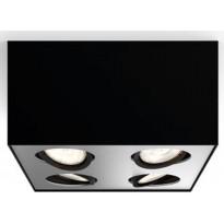 Spottivalaisin Philips Box, 4-osainen, musta, Verkkokaupan poistotuote