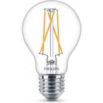 LED-lamppu Philips WarmGlow, E27, 8,5W, kirkas
