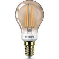 LED-lamppu Philips Vintage, E14, P45, 5W, kulta