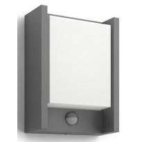 LED-ulkoseinävalaisin Philips myGarden, Arbour, 166x75x221mm, liiketunnistimella antrasiitti