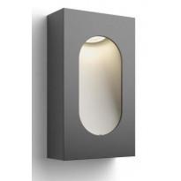 LED-ulkoseinävalaisin Philips myGarden, Hedgerow 134x68x235mm, antrasiitti