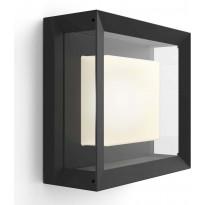 Ulkoseinävalaisin Philips Hue Econic WACA EU LED, neliö 15W, IP44 115x260x260mm, musta/lasi