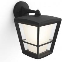 Ulkoseinävalaisin Philips Hue Econic WACA EU LED, alasuunta, 15W, IP44 312x244x194mm, musta
