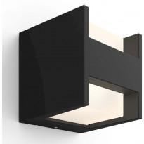 Ulkoseinävalaisin Philips Hue Fuzo White EU LED, 15W, IP44 130x127x130mm, musta