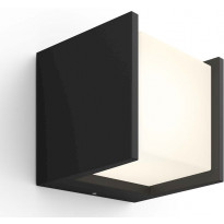 Ulkoseinävalaisin Philips Hue Fuzo White EU LED, 15W, IP44 130x127x140mm, musta