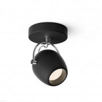 LED-spottivalaisin Philips Rivano single spot musta 1x4.3W SELV