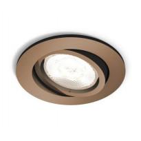 LED-alasvalo Philips myLiving, Shellbark, Ø 90x50mm, kupari