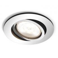 LED-alasvalo Philips myLiving, Shellbark, Ø 90x50mm, kromi