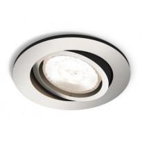 LED-alasvalo Philips myLiving, Shellbark, Ø 90x50mm, mattakromi