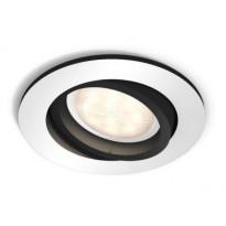 LED-alasvalo Philips Hue Milliskin, Ø 90x100mm, alumiini, sis. kaukosäätimen