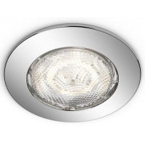 LED-alasvalo Philips myBathroom, Dreaminess, Ø 75x50mm, IP65, kromi