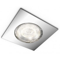 LED-alasvalo Philips myBathroom, Dreaminess, 75x75x50mm, IP65, kromi