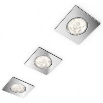 LED-alasvalosarja Philips myBathroom, Dreaminess, 75x75x50mm, IP65, 3kpl, kromi