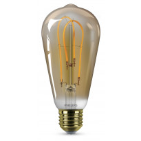 LED-lamppu Philips Spiral, 5W (25W), ST64, E27, Gold
