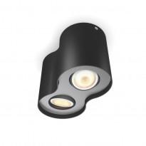 LED-spottivalaisin Philips Pillar Hue, 2x5.5W, musta