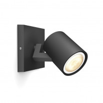 LED-spottivalaisin Philips Runner Hue, 1x5.5W, musta, ilman himmennintä