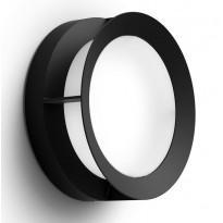 LED-ulkoseinävalaisin Philips myGarden, Actea, 12W, 74x189x189mm, musta