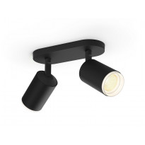 LED-spottivalaisin Philips Hue Fugato, bluetooth, 2x5.7W, IP20, GU10, 195x80x153mm, musta