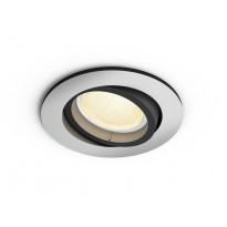 LED-alasvalo Philips Hue Centura, bluetooth, 5.7W, IP20, GU10, Ø90x100mm, alumiini