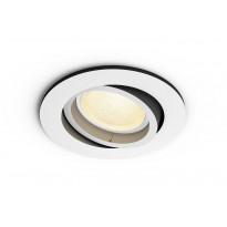 LED-alasvalo Philips Hue Centura, bluetooth, 5.7W, IP20, GU10, Ø90x100mm, valkoinen