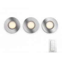 LED-alasvalo Philips Hue Adore, himmentimellä, 3x5W, IP44, GU10, Ø93mm, kromi