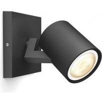 LED-spottivalaisin Philips Hue BT Runner 5309030P6, 5.5W, musta, Verkkokaupan poistotuote