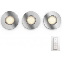 LED-alasvalo Philips Hue BT Adore, 3x5W, Ø93mm, kromi, himmennin