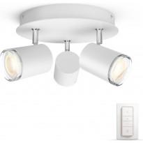 LED-spottivalaisin Philips Hue BT Adore 3418131P6, 3x5.5W, valkoinen, himmennin