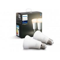 LED-älylamppu Philips Hue W, 9W, E27, A60, 2kpl/pkt